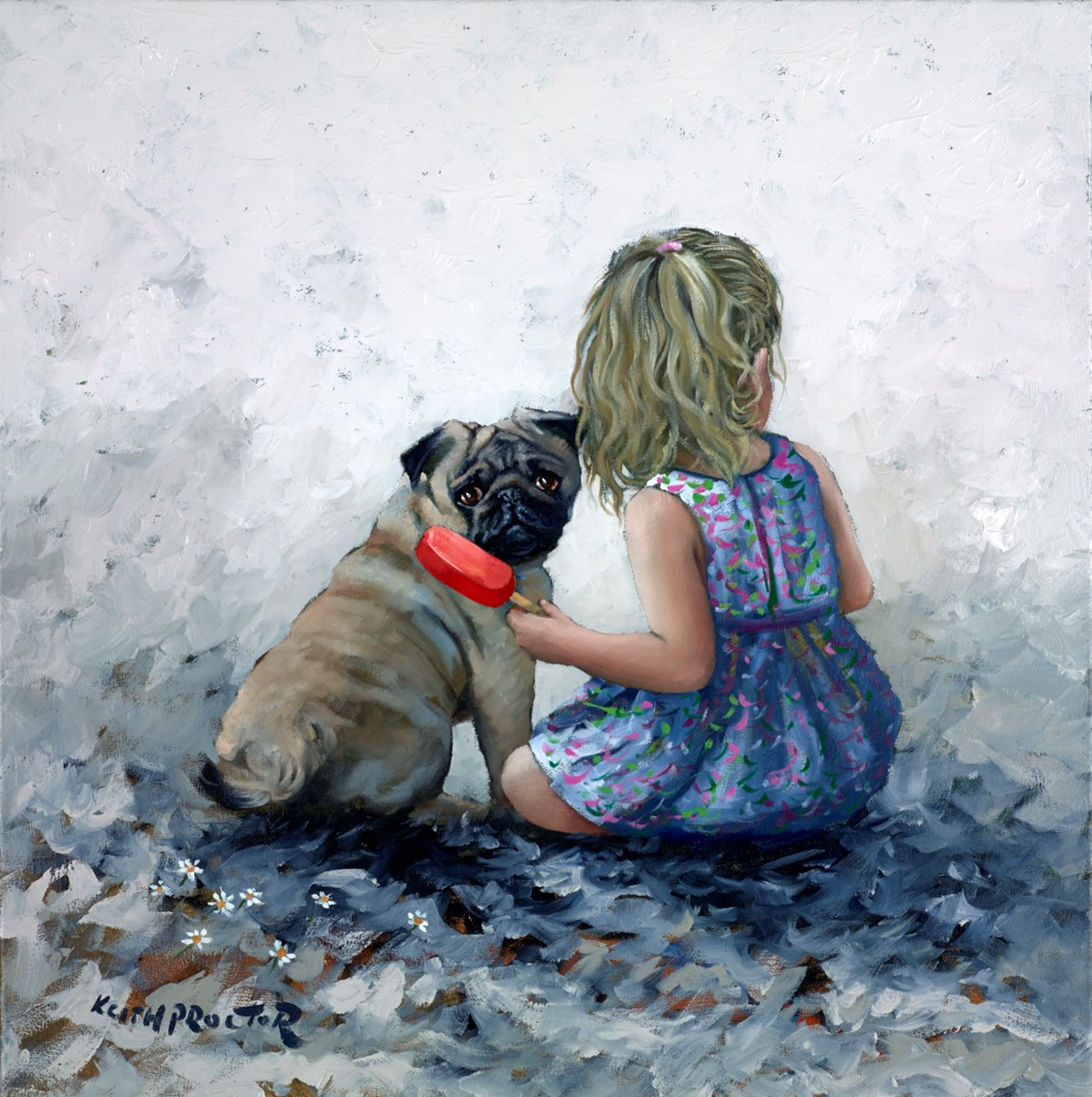 Lollipop by keith proctor -  sized 23x24 inches. Available from Whitewall Galleries